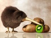 Daniel Eskridge - Kiwi Bird and Kiwifruit