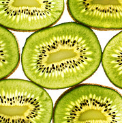 Sliced Prints - Kiwi fruit III Print by Paul Ge