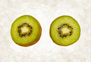 Single Object Painting Posters - Kiwi Slices Poster by Danny Smythe