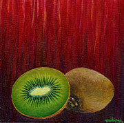 Kiwi Painting Prints - Kiwi Sorbet Print by Melissa  Pop