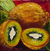 Kiwi Painting Prints - Kiwis Print by Paris Wyatt Llanso