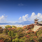 Kyoto Photos - Kiyomizu dera Temple Kyoto Japan by Colin and Linda McKie