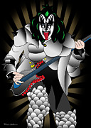 Gene Simmons Framed Prints - Kizz Framed Print by Mark Ashkenazi