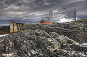 Finnmark Framed Prints - Kjolnes Lighthouse 1 Framed Print by Heiko Koehrer-Wagner