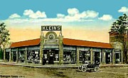 Wollaston Framed Prints - Kleins Corner In Wollaston Ma 1913 Framed Print by Dwight Goss