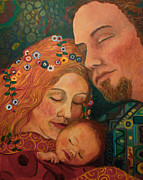 Klimt Painting Originals - Klimt family by Anika Ferguson