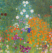Klimt Digital Art Prints - Klimt Landscape  Print by Nomad Art And  Design
