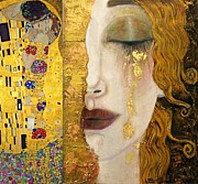 Conversation Piece Framed Prints - Klimt Painting Framed Print by Pg Reproductions