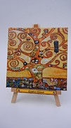 Klimt Painting Originals - Klimt Tree of Life by Diana Bursztein