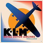 Airline Framed Prints - KLM Airlines Framed Print by Gary Grayson
