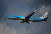 Klm Framed Prints - KLM Boeing 737 NG Framed Print by Rene Triay Photography