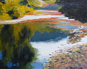 Contemplative Paintings - Klootchy Creek by Melody Cleary