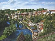 South Africa Painting Prints - Knaresborough Yorkshire Print by Richard Harpum