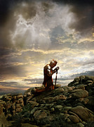 Fantasy Photos - Kneeling Knight by Jill Battaglia