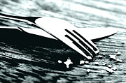 Stainless Steel Photo Prints - Knife and fork Print by Blink Images