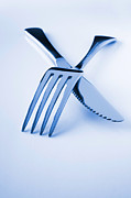 Fine Dining Posters - Knife and Fork  Poster by Colin and Linda McKie