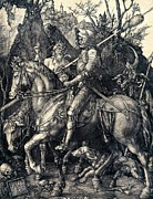 Albrecht Durer Prints - Knight Death and the Devil Print by Albrecht Durer