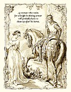 Knight In Shining Armor Prints - Knight in Shining Armor Print by Mike Flynn