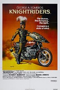 Movie Digital Art Metal Prints - Knight Riders Poster Metal Print by Sanely Great