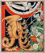 Photo Researchers - Knights Battle Eight-headed Dragon 1313