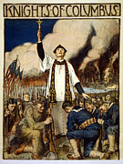 Knights Of Columbus, 1917 Print by William Balfour Kerr