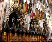 Cathedrals Framed Prints - Knights Of St. Patrick 2 Framed Print by Mel Steinhauer