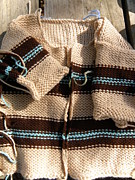 Baby Tapestries - Textiles - Knit Striped Baby Cardi by Megan Brandl