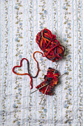 Bedroom Prints - Knitted With Love Print by Joana Kruse