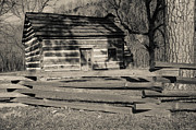Slaves Prints - Knob Creek Cabin Print by Mark Bowmer