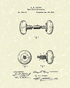 Door Drawings Posters - Knob Extension 1878 Patent Art Poster by Prior Art Design