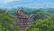 Birds Eye View Photos - Knobels Wooden Roller Coaster  by Paul Ward