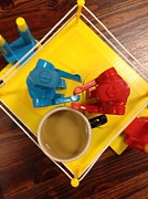 Board Game Photo Originals - Knock m Sock m Cafe Au Lait by Michael Hoard
