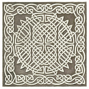 Panel Drawings Metal Prints - Knotwork Panel 3 Metal Print by Sherri Odegaarden