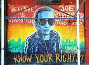 Joe Strummer Framed Prints - Know Your Rights Framed Print by Allen Beatty