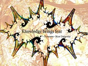 Education Mixed Media Framed Prints - Knowledge Brings Fear Framed Print by Anastasiya Malakhova