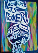 Obama Paintings - Knowledge is power 5 by Tony B Conscious