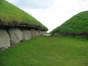Kerb Framed Prints - Knowth Mounds Framed Print by Denise Mazzocco