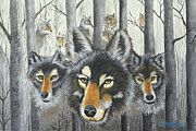Realistic Wolf Framed Prints - Knoxville Wolves Framed Print by Terry Lewey