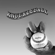 Baseball Pitchers Posters - Knuckleball Poster by Bill  Wakeley