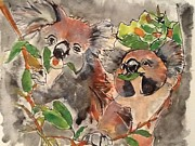 Koala Paintings - Koala Happy by Sharon Wood