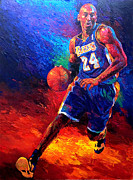 La Lakers Paintings - Kobe Bryant by Brent Benger