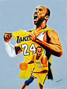 Los Angeles Lakers Paintings - Kobe Bryant by Hector Monroy by Hector Monroy