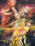 Sports Drawing Framed Prints - Kobe Bryant  Framed Print by Christiaan Bekker