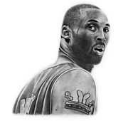 La Lakers Drawings Posters - Kobe Bryant Poster by Don Medina