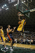 Professional Basketball Posters - Kobe Bryant Dunk Poster by Mountain Dreams