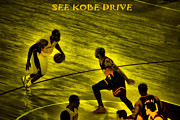 Kobe Prints - Kobe Lakers Print by RJ Aguilar