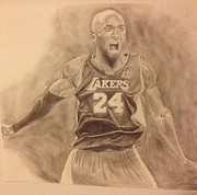 Lakers Drawings - Kobe by Won Cho