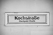U-bahn Framed Prints - Kochstrasse checkpoint charlie Berlin U-bahn underground railway station name Germany Framed Print by Joe Fox