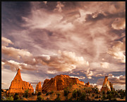 Slickrock Posters - Kodachrome Basin State Park - Clouds Over The Grand Parade Utah Poster by David Rigg
