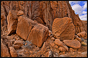 Slickrock Posters - Kodachrome Basin State Park Rock Fall Utah - HDR Poster by David Rigg
